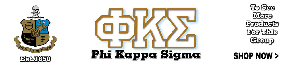 Phi Kappa Sigma Fraternity clothing and Custom Greek merchandise
