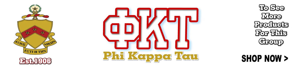 Phi Kappa Tau Fraternity letter clothing Custom Greek merchandise