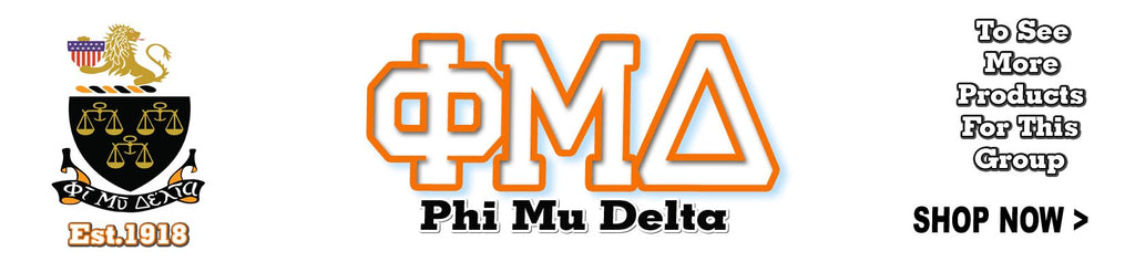 Phi Mu Delta Fraternity clothing and Custom Greek gear