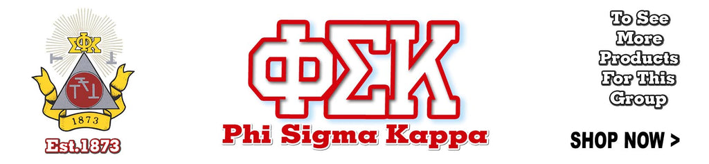 Phi Sigma Kappa Fraternity clothing and custom Greek merchandise