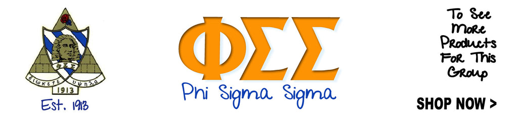 Phi Sigma Sigma Sorority clothing and custom Greek merchandise