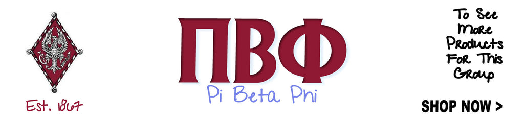 Pi Beta Phi Sorority clothing and custom Greek merchandise