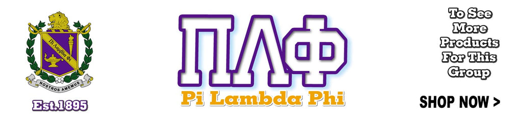 Pi Lambda Phi PiLam Fraternity Greek clothing and Custom Greek merchandise