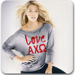 Alpha Chi Omega women's Fraternity letter clothing Greek merchandise Custom Greek printed shirts