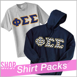 Sorority Big Sis and Lil Sis t shirt packs