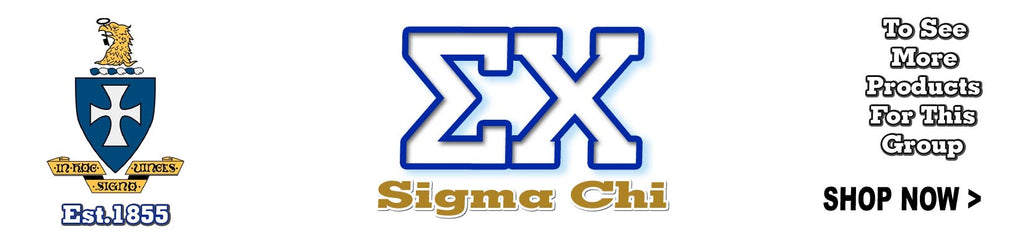 Sigma Chi Fraternity clothing and Custom Greek merchandise