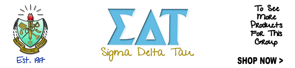 Sigma Delta Tau Sorority clothing and custom Greek merchandise