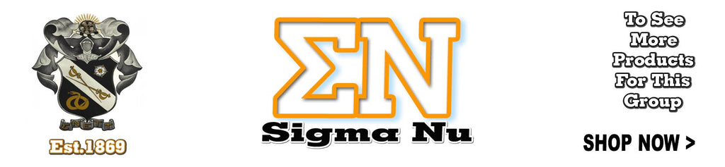 Sigma Nu Fraternity clothing and custom Greek merchandise