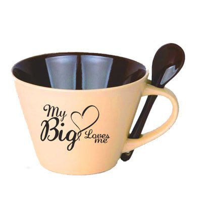 my big loves me sorority mug with spoon greek accessories and merchandise