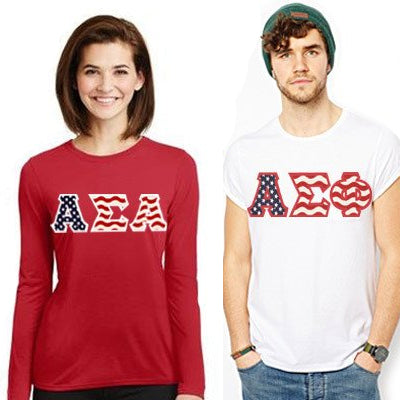 Custom Greek merchandise Stars and Stripes patriotic clothing