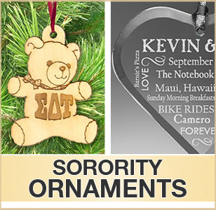 Fraternity and Sorority Ornaments