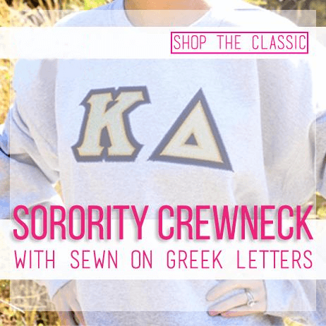 sorority twill crewneck