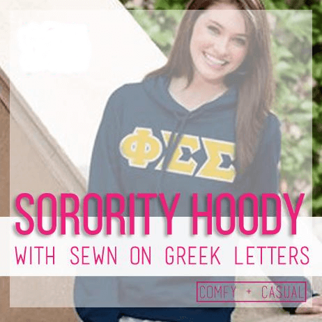 sorority twill hoody