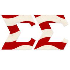 Something Greek Exclusive Patriotic Red and White Banner Pattern
