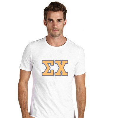 Custom Fraternity printed letter shirts Custom Greek gear