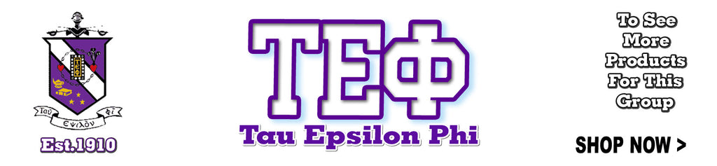 Tau Epsilon Phi Fraternity clothing and Custom Greek merchandise