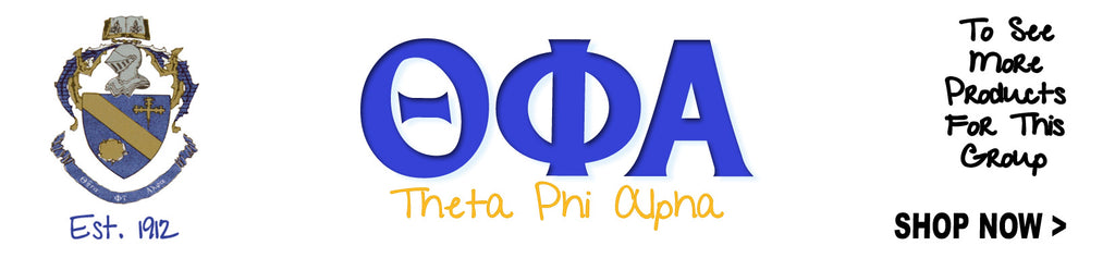 Theta Phi Alpha Sorority clothing and Custom Greek merchandise
