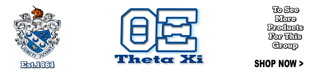 Theta Xi Fraternity clothing and Custom Greek gear