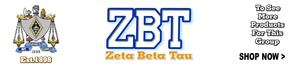 Zeta Beta Tau Fraternity Custom Greek merchandise