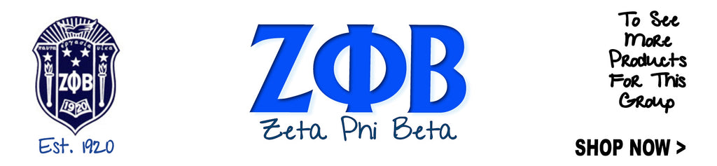 Zeta Phi Beta Sorority clothing Custom Greek merchandise