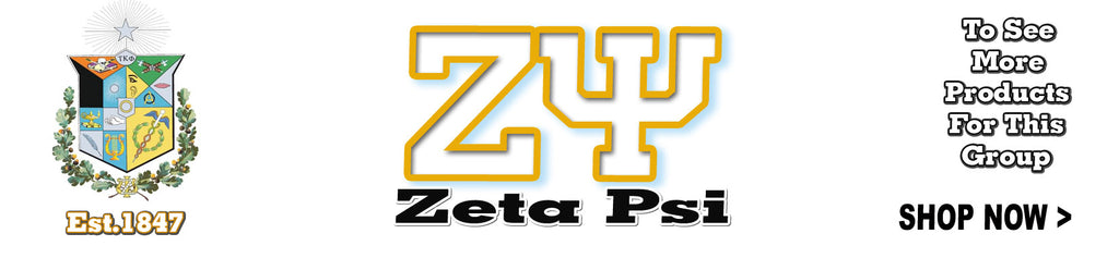 Zeta Psi Fraternity clothing Custom Greek merchandise