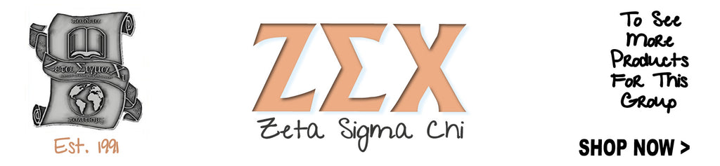 Zeta Sigma Chi Sorority clothing Custom Greek merchandise