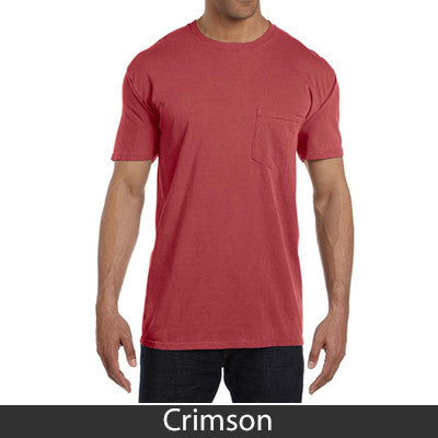 Fraternity comfort colors printed t shirt with pocket for Frat pocket t shirts