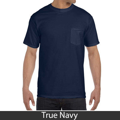 Fraternity Comfort Colors Printed T Shirt With Pocket Comfort Colors 6030 Dig