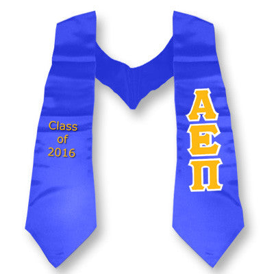 Alpha Epsilon Pi Graduation Stole with Twill Letters - TWILL