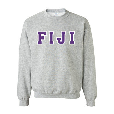 FIJI Fraternity Standards Crewneck Sweatshirt - Gildan 18000 - Twill