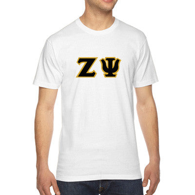 Zeta Psi American Apparel Jersey Tee with Twill - American Apparel 2001W - TWILL