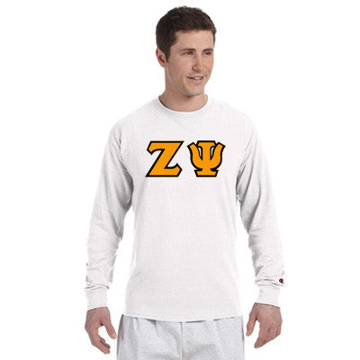 Zeta Psi Champion Long-Sleeve Tee - Champion CC8C - TWILL