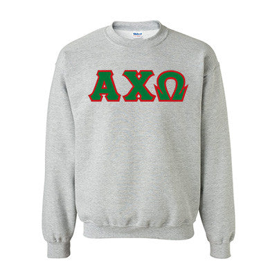 Alpha Chi Omega Standards Crewneck Sweatshirt - Gildan 18000 - TWILL