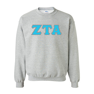 Zeta Tau Alpha Standards Crewneck Sweatshirt - Gildan 18000 - TWILL