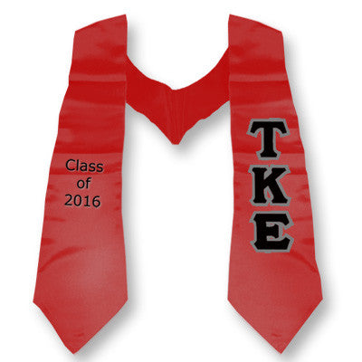 Tau Kappa Epsilon Graduation Stole with Twill Letters - TWILL