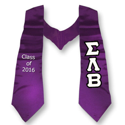 Sigma Lambda Beta Graduation Stole with Twill Letters - TWILL