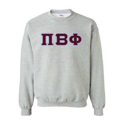Pi Beta Phi Standards Crewneck Sweatshirt - Gildan 18000 - TWILL