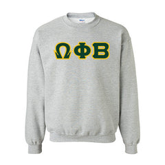 Omega Phi Beta Standards Crewneck Sweatshirt - Gildan 18000 - TWILL