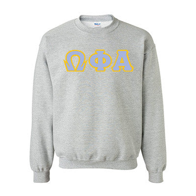 Omega Phi Alpha Standards Crewneck Sweatshirt - Gildan 18000 - TWILL