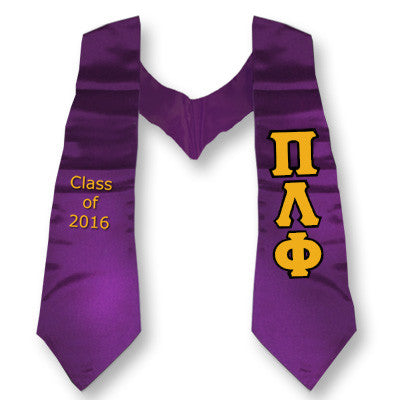 Pi Lambda Phi Graduation Stole with Twill Letters - TWILL