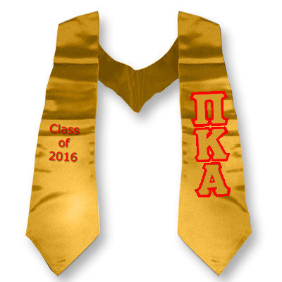 Pi Kappa Alpha Graduation Stole with Twill Letters - TWILL