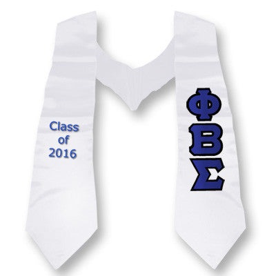 Phi Beta Sigma Graduation Stole with Twill Letters - TWILL