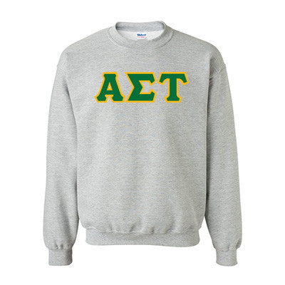 Alpha Sigma Tau Standards Crewneck Sweatshirt - Gildan 18000 - TWILL