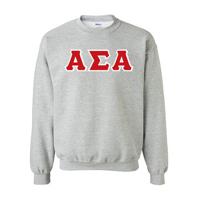 Alpha Sigma Alpha Standards Crewneck Sweatshirt - Gildan 18000 - TWILL