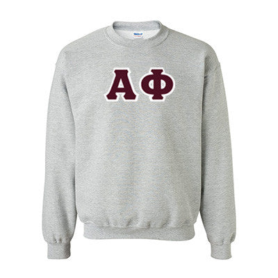 Alpha Phi Standards Crewneck Sweatshirt - Gildan 18000 - TWILL