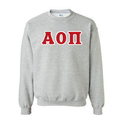Alpha Omicron Pi Standards Crewneck Sweatshirt - Gildan 18000 - TWILL