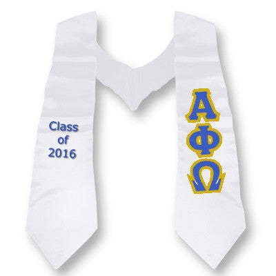 Alpha Phi Omega Graduation Stole with Twill Letters - TWILL