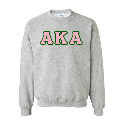 Alpha Kappa Alpha Standards Crewneck Sweatshirt - Gildan 18000 - TWILL