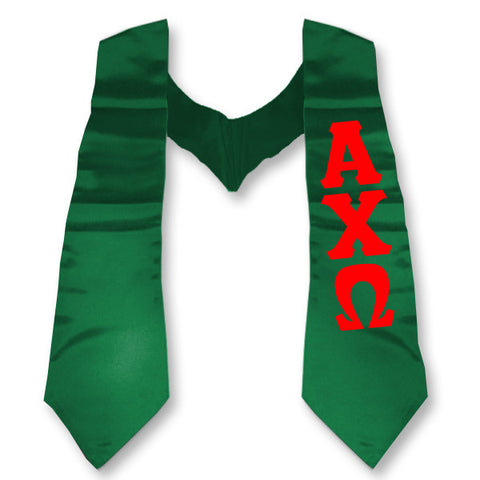 Alpha Chi Omega Printed Budget Graduation Stole - CAD