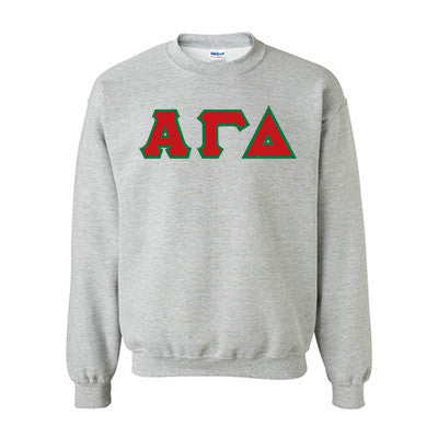 Alpha Gamma Delta Standards Crewneck Sweatshirt - Gildan 18000 - TWILL